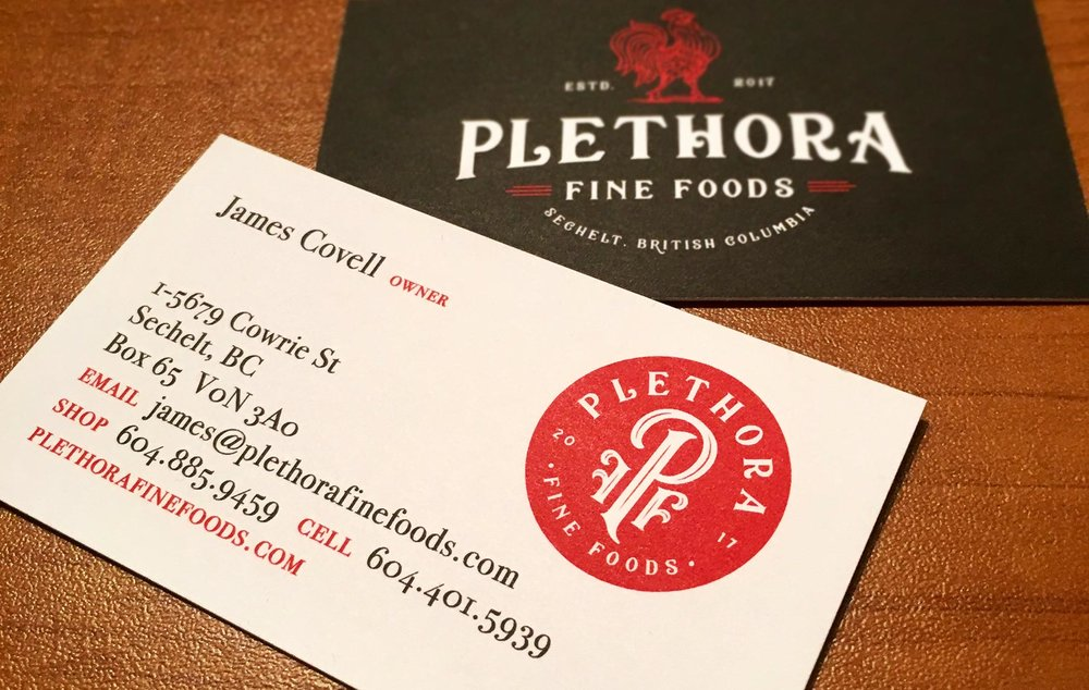Uncoated business cards for James at Plethora, printed on a nice and thick stock.