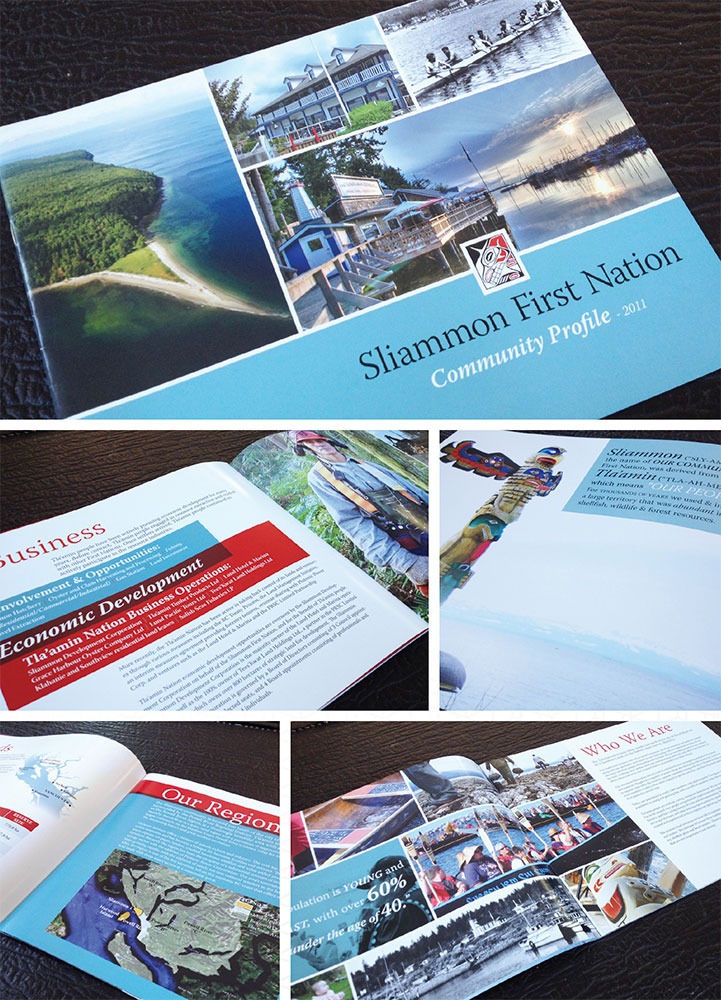 Printed report for the Sliammon First Nation in Powell River.