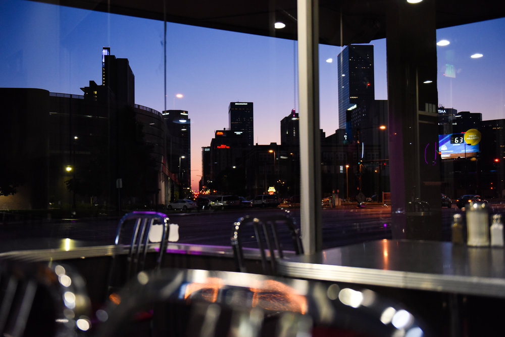 5 a.m.: The sunrise from the Denver Diner.