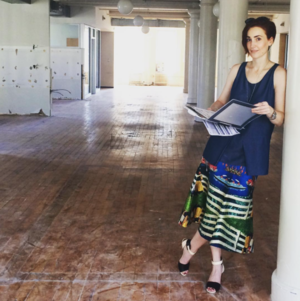 Hillary wears Loud Love Jewelry, a Ready to fish by Ilja top and an Alice McCall skirt.