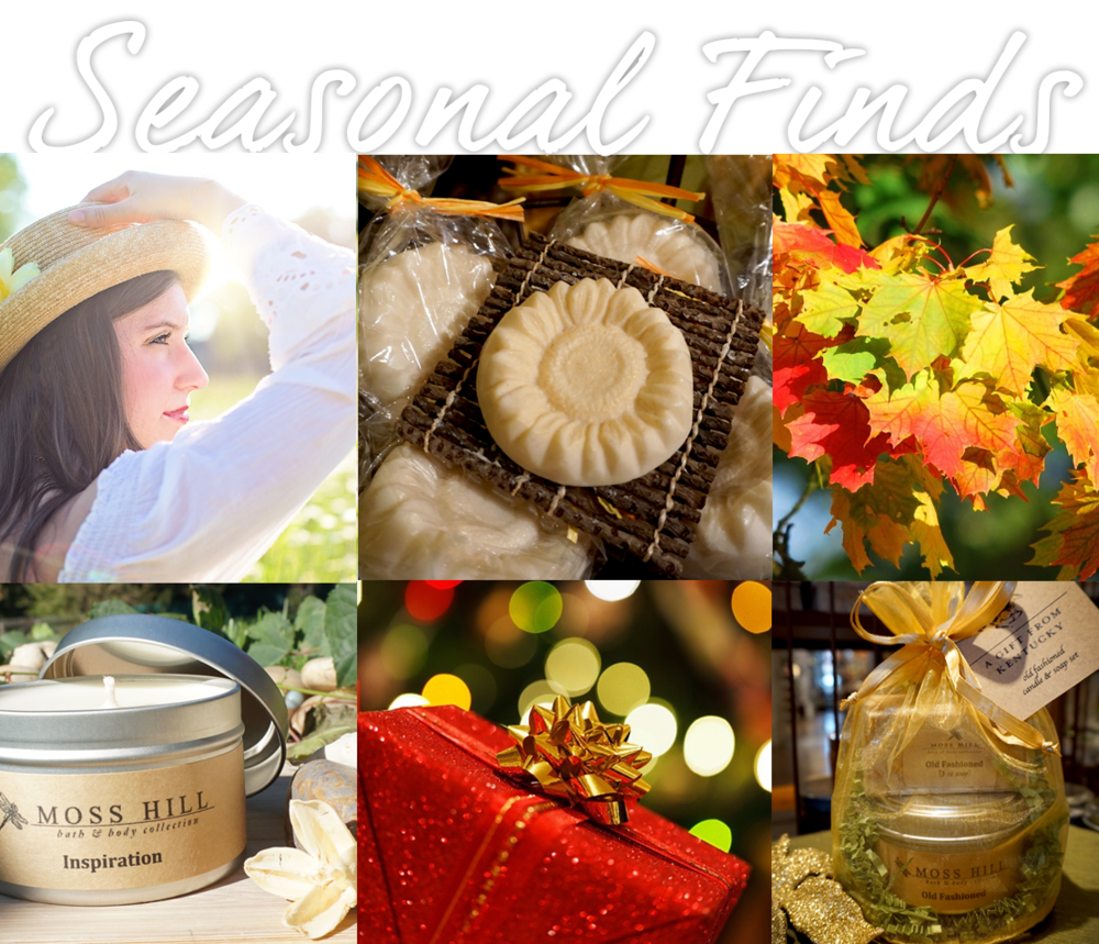 Celebrate with seasonal bath, body and home fragrances...