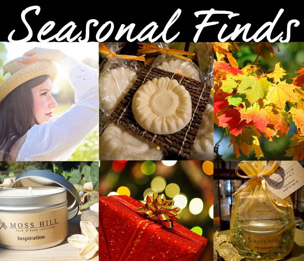 Celebrate with seasonal bath, body and home fragrances...