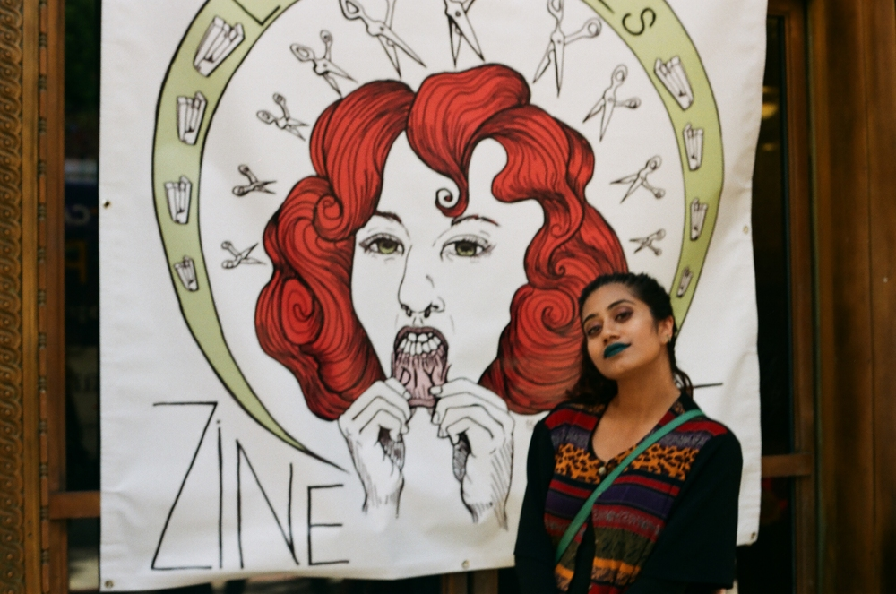 Farah Billah, Zine Fest attendee, Author of   Wrong Turns Lead Here
