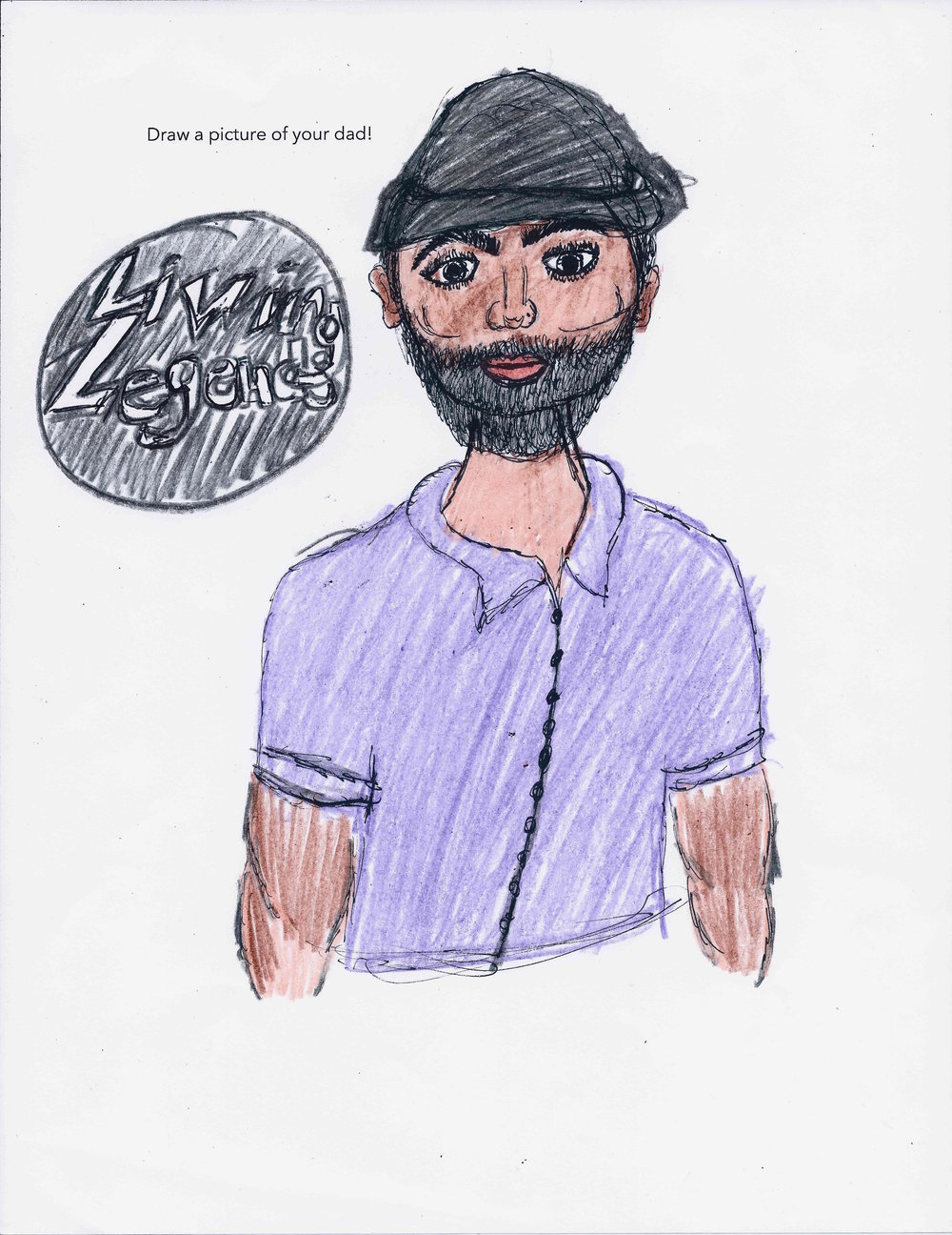Indigo's drawing of her father