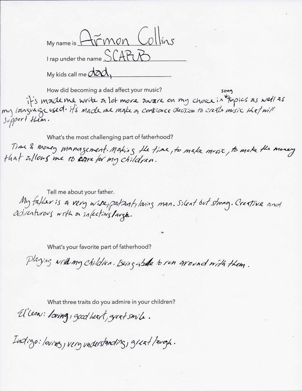 Scarub's Questionnaire