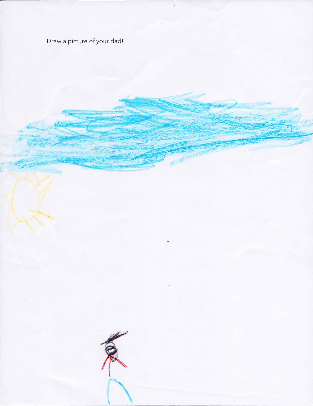 Tayvian's drawing of his dad