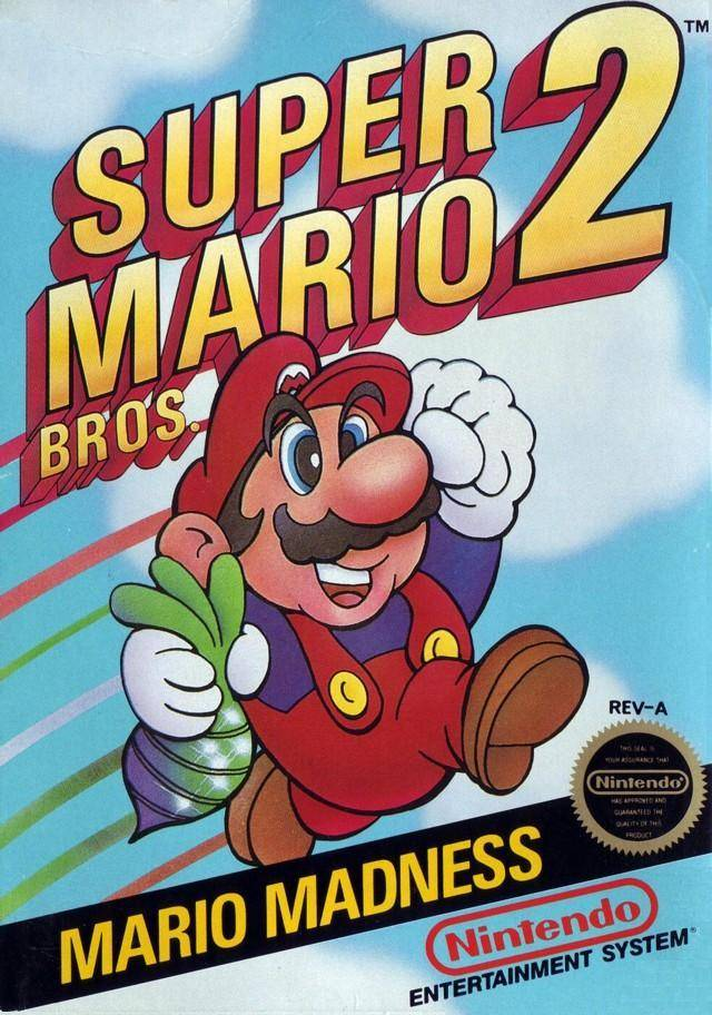 Video game legend Mario holding a beet on the cover of his second adventure. Do you think it was for the Beet test? Picture: www.gamefaqs.com