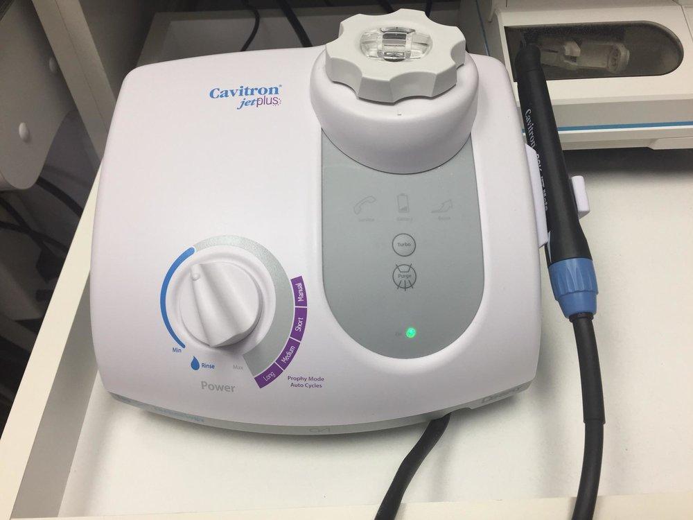 A salt water pressure jet at the dentist?