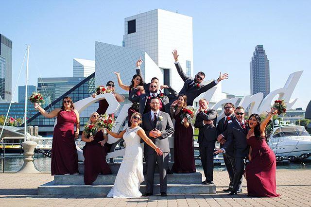 💥Cleveland Wedding💥 . . . . #wedding #weddingday #weddinginspiration #weddingphotography #clevelandwedding #cleveland #clevelandsign #clevelandphotographer #clevelandweddingphotographer #ido #bridalparty #love