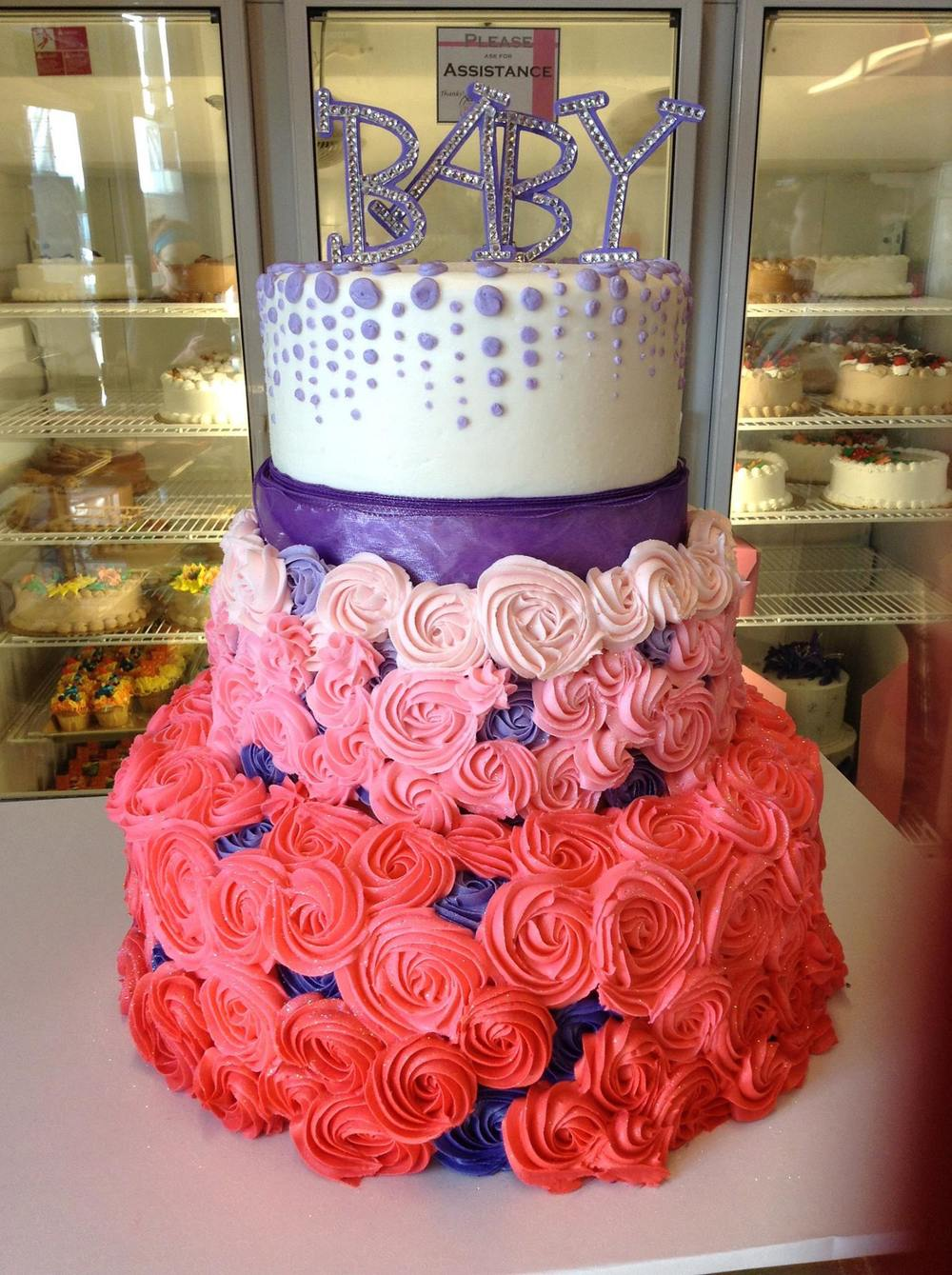 Ombré Baby Shower Cake