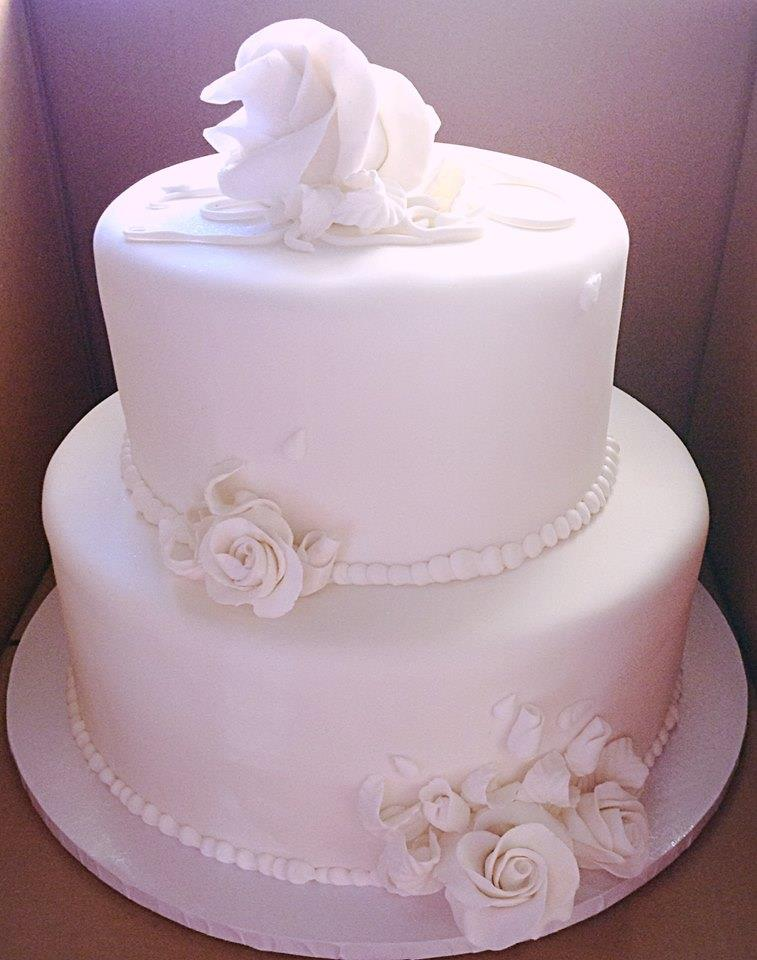 Simple Two Tier Vow Renewal Cake