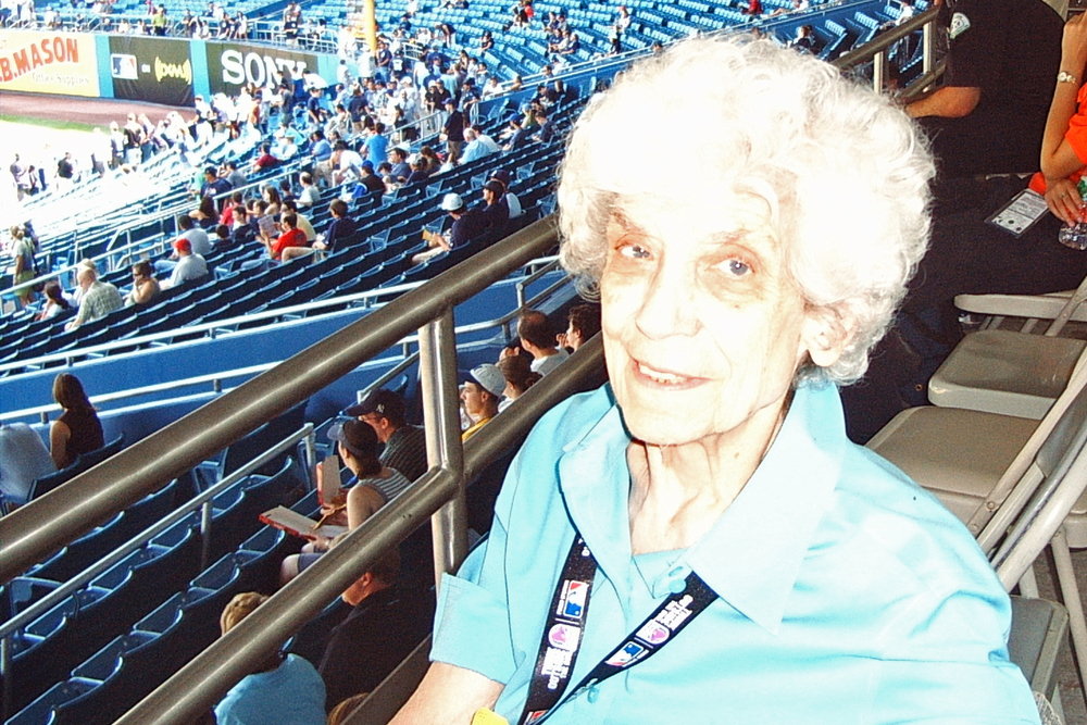 TOOK GRANDMA TO YANKEE GAMES