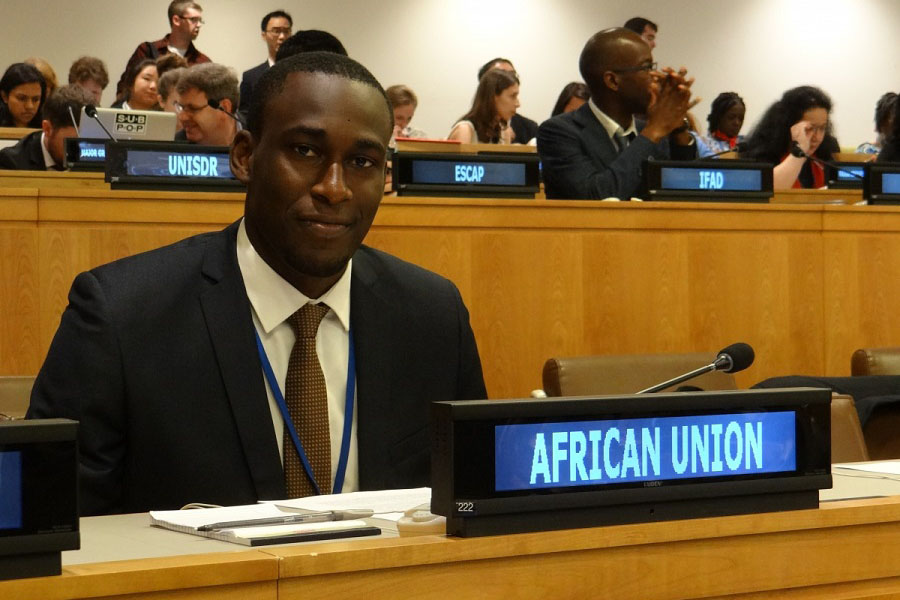 Intern Mahamoud Diop, Permanent Observer Mission of the African Union to the UN;    Major John H. Mark, Jr. Scholarship, Manhattan College