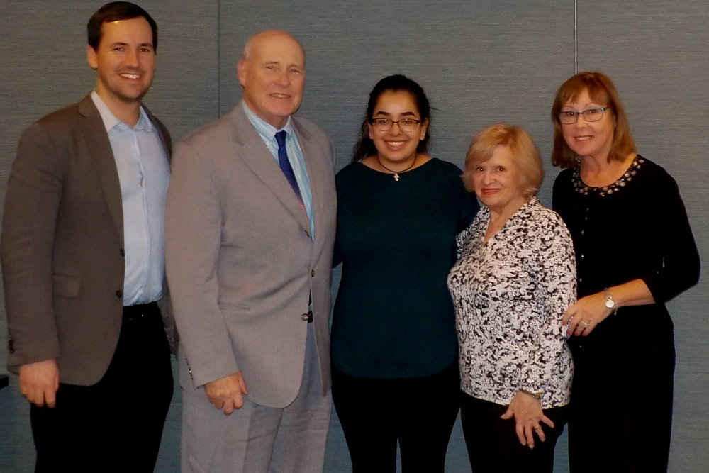 Kevin Gschwind (Study Abroad Coordinator); John H. Mark, Sr.; Melissa Gallardo; Angela P. Mark; Mary Ellen Malone, (Director of Planned Giving)
