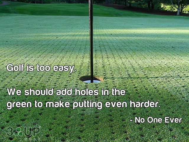 For all my fellow #golf nuts who are dealing with aerated greens over the next few weeks.