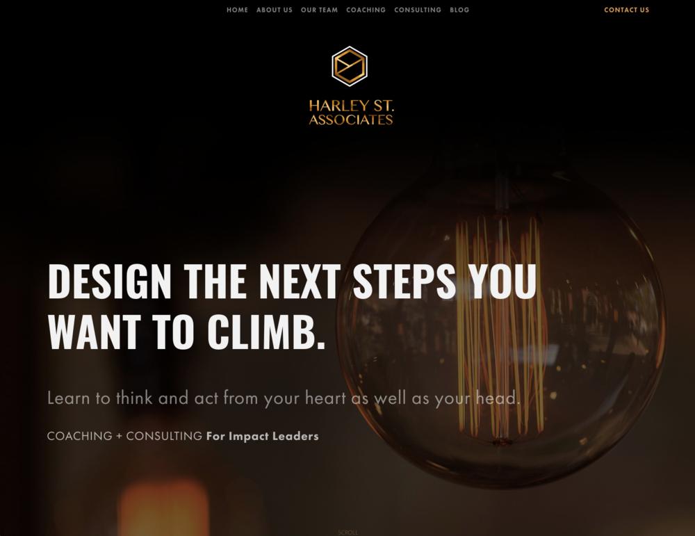 Harley St. Associates - www.coachingimpactleaders.comPROJECTWeb Design | Identity Design | Coaching