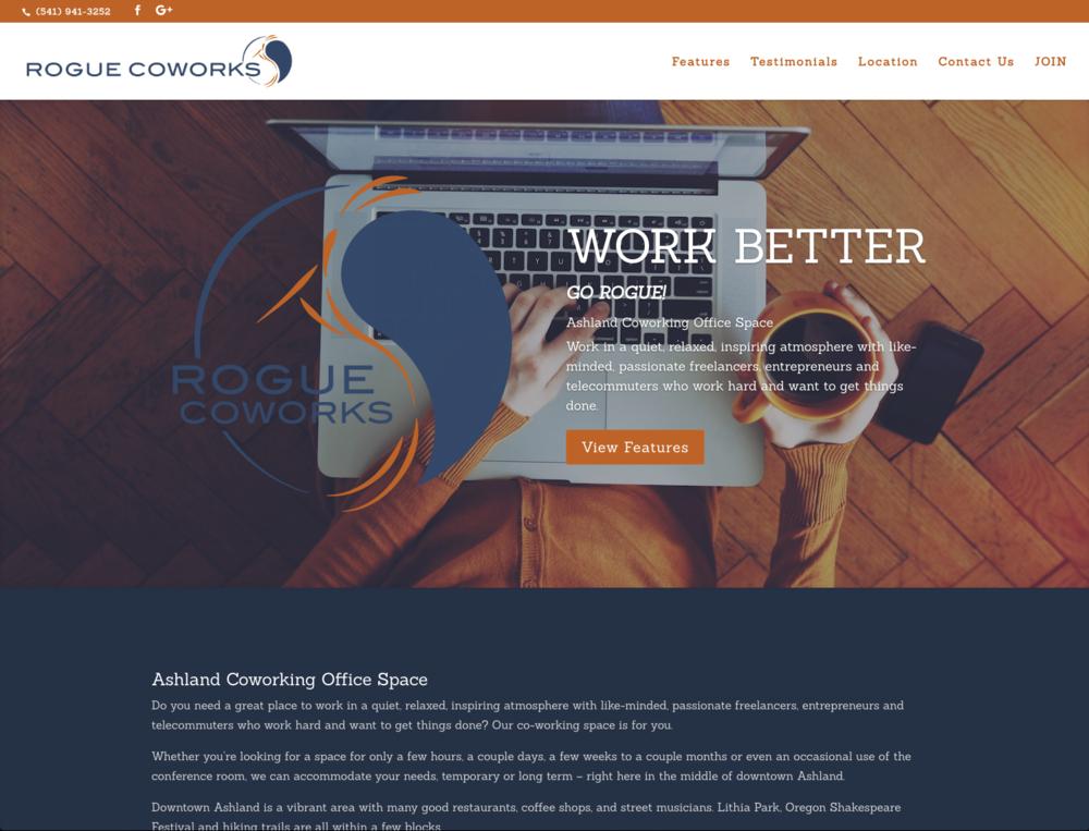 Rogue Coworks - gorogue.comPROJECTWeb Design