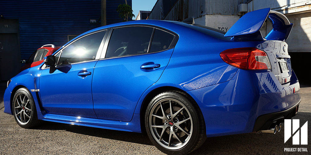 2015 Subaru WRX STi in World Rally Blue