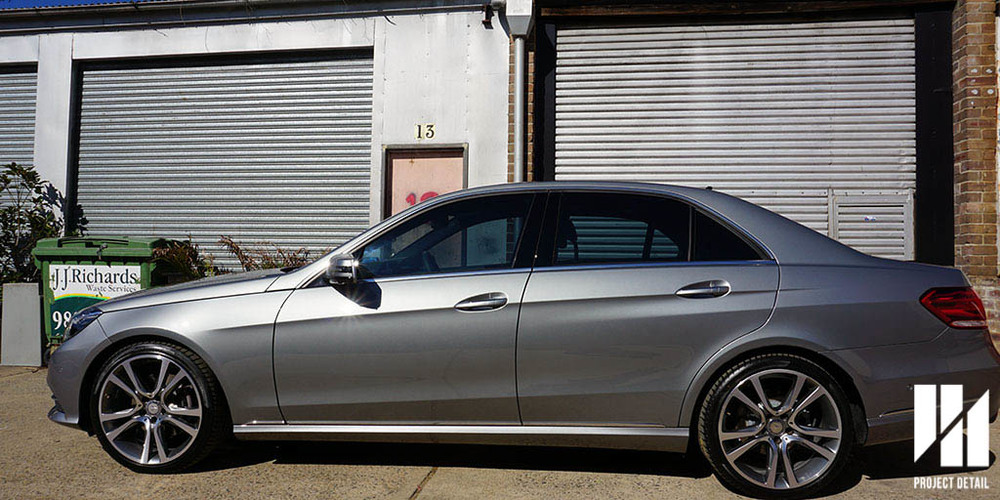 Mercedes E400 with Johnson Window Film InsulatIR at 35% VLT