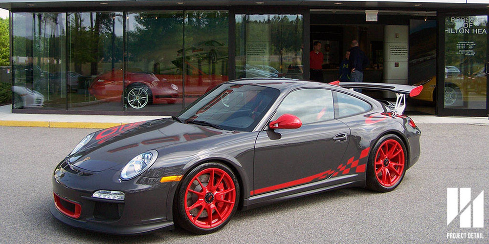 Porsche's 997 GT3 RS showcasing Black Grey.