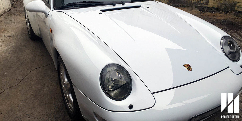 1997 Porsche 911 (993) Carrera in Solid White, after paint correction and Ceramic Quartz Coating.
