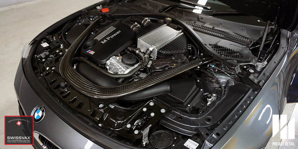 The BMW M4's powerhouse. Entirely detailed with Swissvax products for rich and luxurious finish.