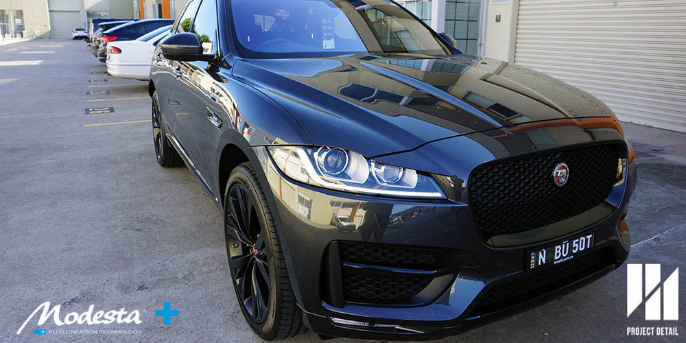 Project Detail Sydney specialises in car detailing and is an official installer for Modesta Glass Coating. This Jaguar F Pace looks spectacular in the afternoon sun, coated in Modesta BC-04.
