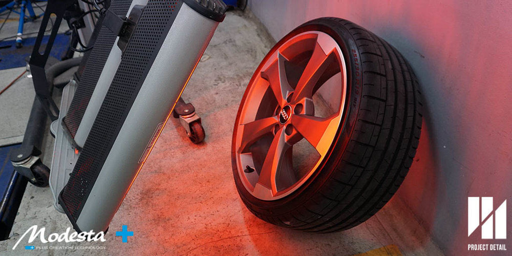 Even each individual wheel is infrared cured, this ensures that the BC-06 gives long lasting protection.