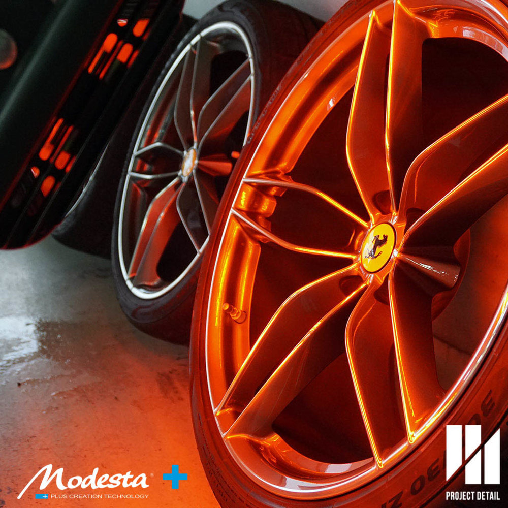 Applied to wheels & brakes then IR cured for maximum strength and longevity.