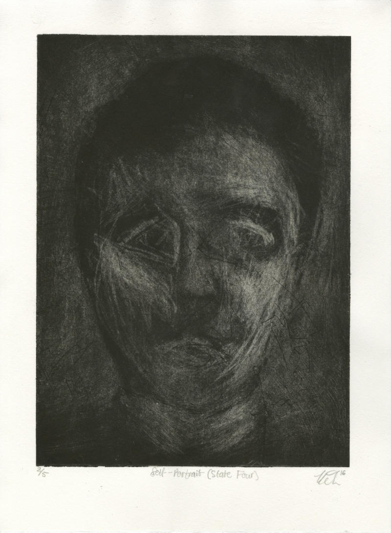 Self-Portrait (State Four) from Accumulation