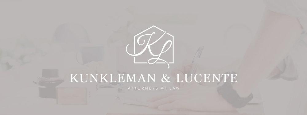 Kunkleman & Lucente, PLLC brand design by Alexa B. Creative & Design