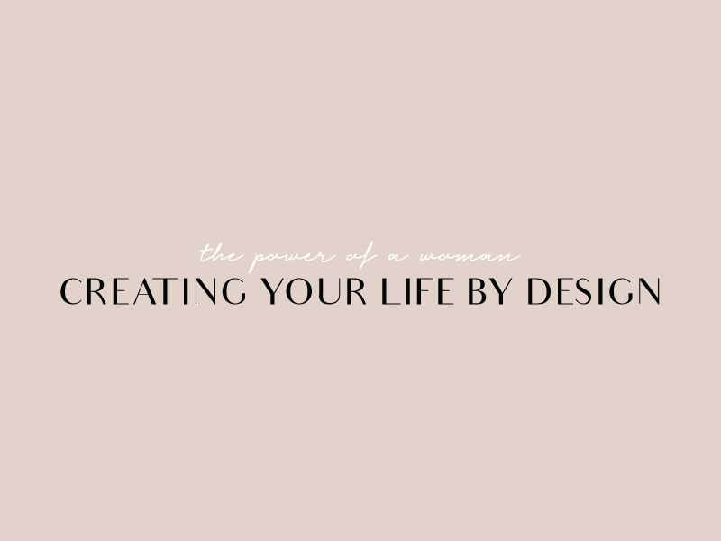 Font pairing and logo for Randina Marie's Creating Your Life By Design · Alexa B. Creative & Design