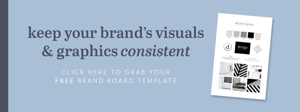 Download your free brand board template to help keep your brand's visuals consistent