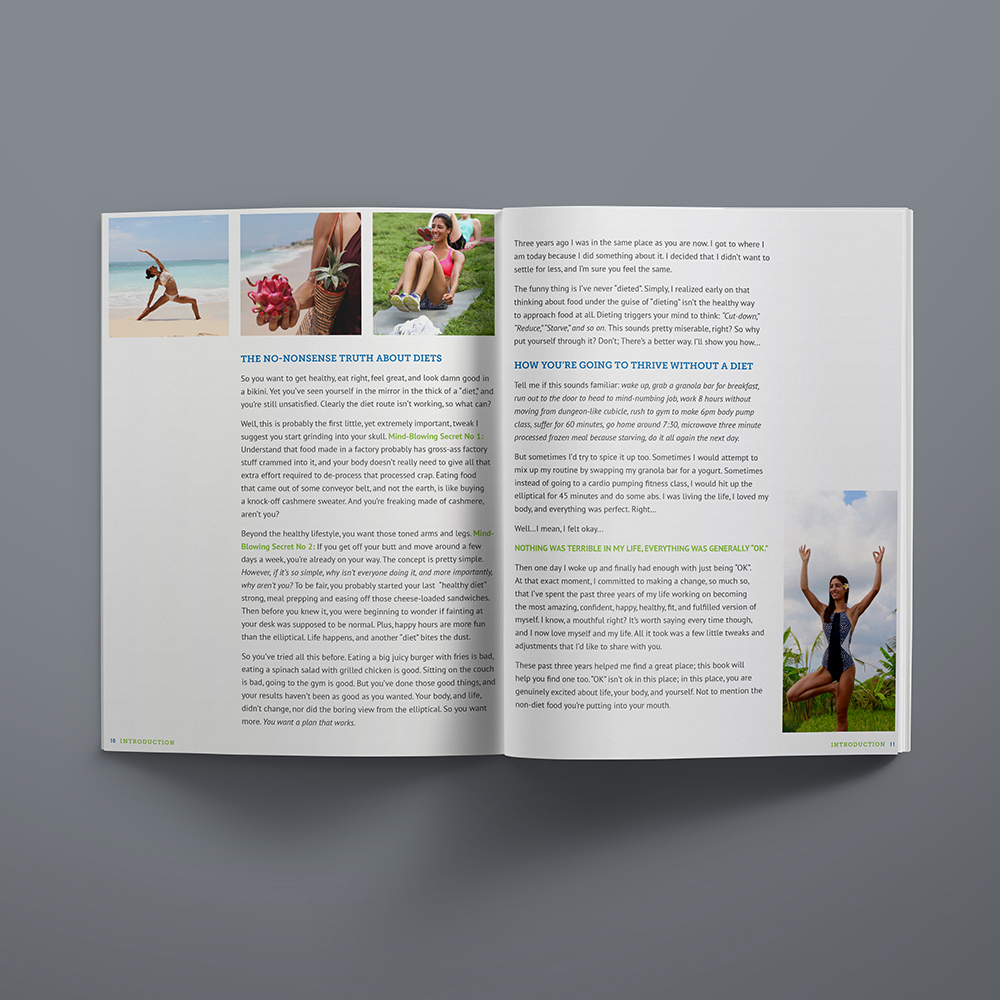 Katie Sampayo Eat to Thrive cookbook and ebook design