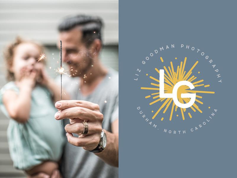 Branding for Liz Goodman Photography a Durham-based family photographer | Alexa B. Creative & Design