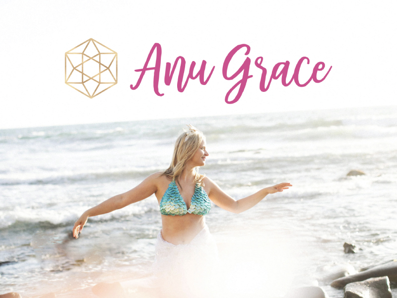 Branding and logo design for Anu Grace by Alexa B. Creative & Design
