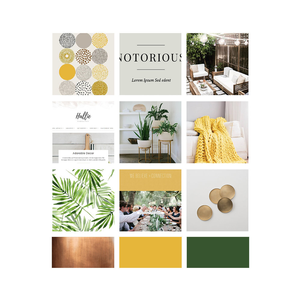 Inspirational moodboard for Kara Chappell Photography's brand | Alexa B. Creative & Design