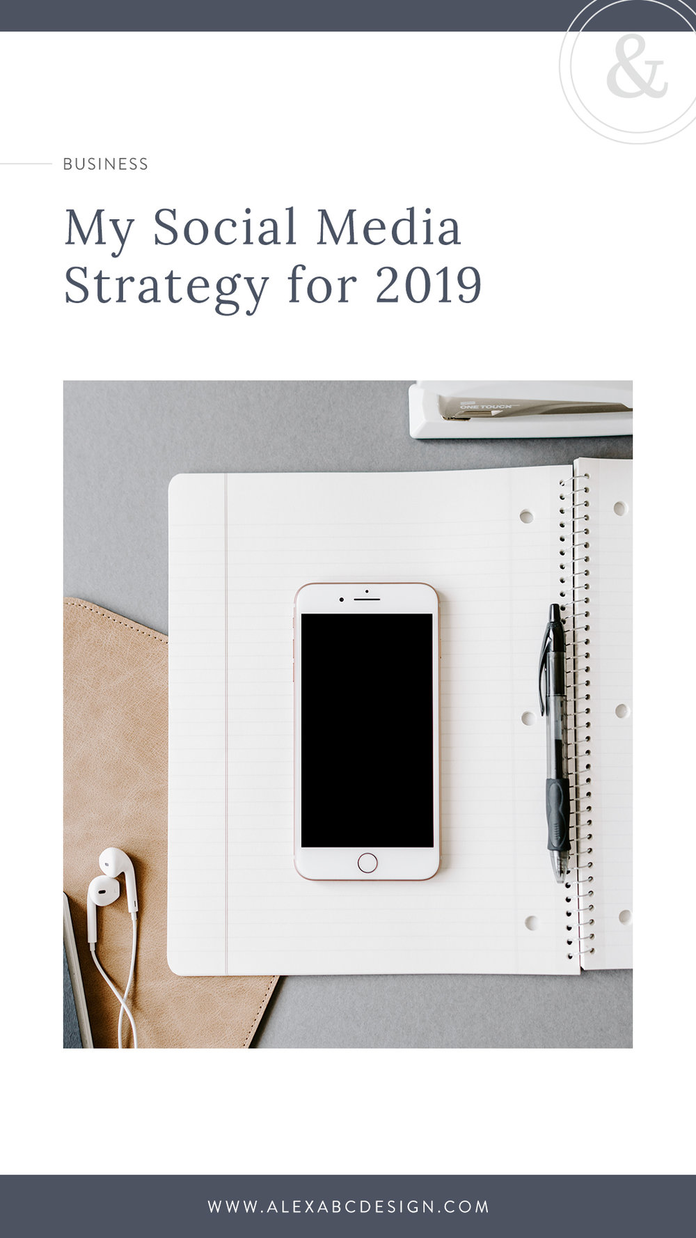 "My Social Media Strategy for 2019 | At the end of 2018, I was burnt out as far as social media goes. At some point, I had gotten caught up in posting just so I could check it off my list & mindlessly scrolling through my feed, making sure to double-tap a couple times for ""engagement."" Well no wonder social media marketing wasn't working for me! In 2019, I'm taking a different approach."