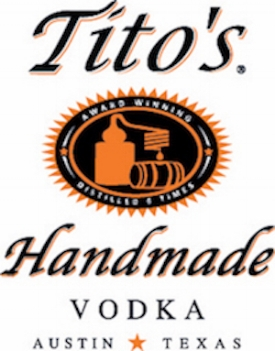 Tito's Handmade Vodka   http://www.titosvodka.com   Tito's Handmade Vodka is produced in Austin at Texas' oldest legal distillery. We make it in batches, use old-fashioned pot stills, and taste-test every batch. Tito's Handmade Vodka is designed to be savored by spirit connoisseurs and everyday drinkers alike.