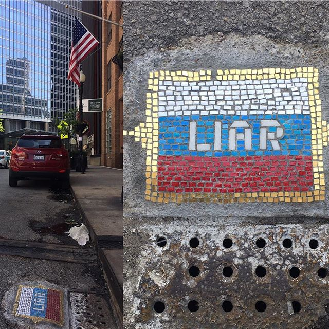 I found it! #streetart #Chicago #protest
