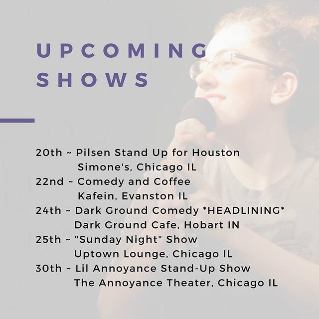 Whoo, some fun shows coming up! Come out and see me!