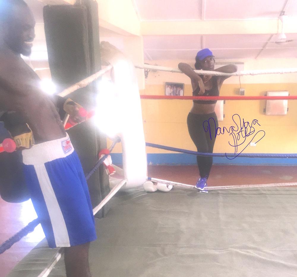 Breaking a sweat in  Adidas Ghana