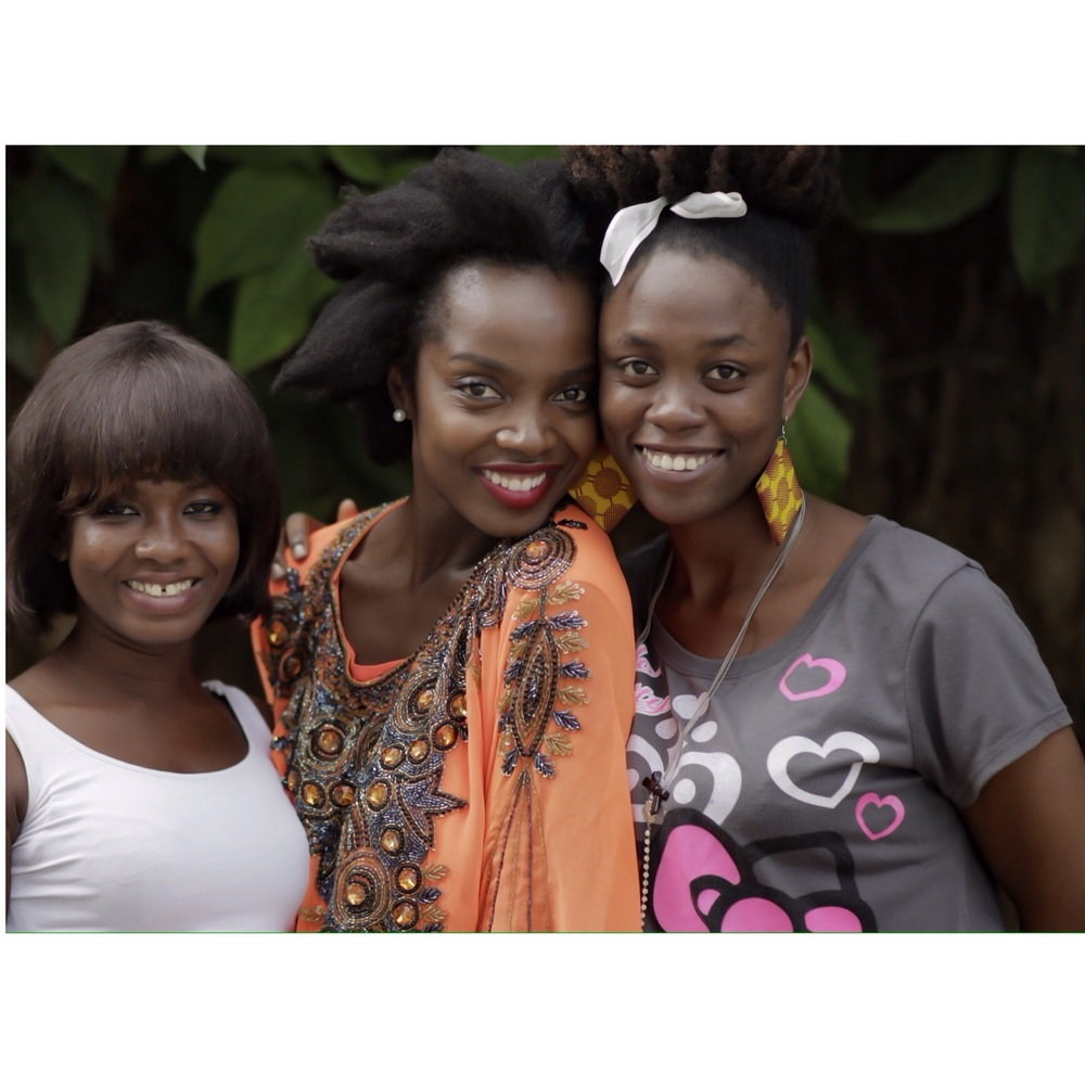 With  Production Assistant Rebecca Dede Kofi-Nomo and Script Supervisor Fiona Worlanyo Ansa