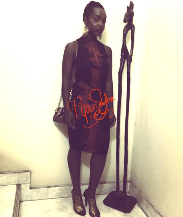 Dress  Nkwo  Earring s Tebazile  Purse  Aya Morrison  Shoes  Mo Saique