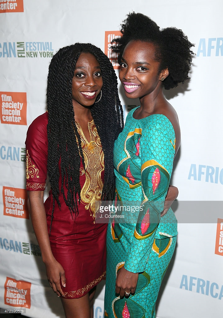 "At the opening of New York African Film Festival with Award Winning Filmaker Akosua Adoma Owusu. MaameYaa starred in her short ""Bus Nut"" -"