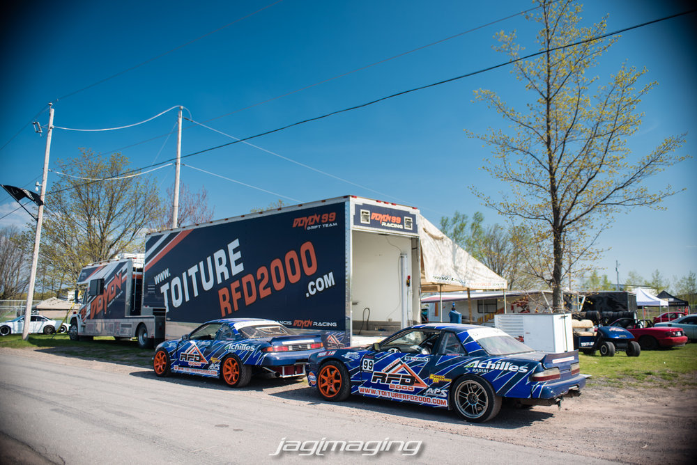 Was also cool to see FDC driver Francis Doyon come out with both his V8 and 2Jz cars.