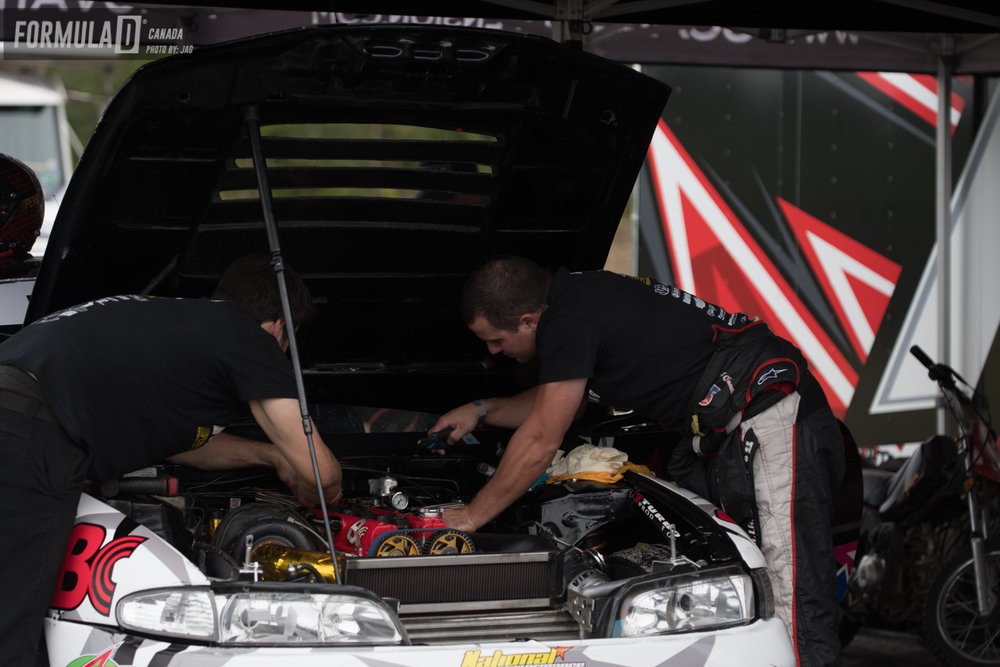 During the break the team tried to fix a throttle body problem that had started given some issues.
