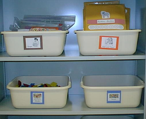 Math Tubs in a Classroom