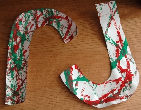 Marble Painted Candy Canes