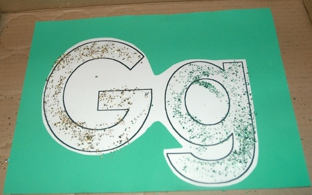 Green & Gold Glitter Gg